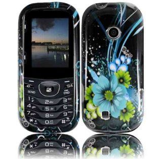 For Verizon Lg Cosmos 2 Vn251 Accessory   Blue Lily Design