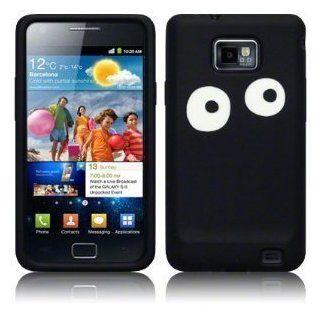 Samsung Galaxy i9100 S 2 Silikon Hülle schwarz/ weiß eyes Teil der