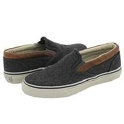 Sperry Top Sider Striper Slip On Charcoal Wool Slip ons