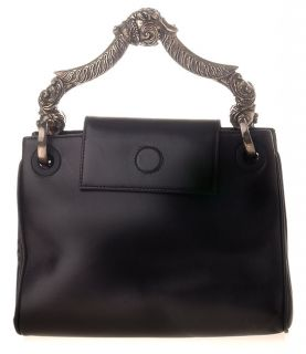 Gianfranco Ferre Black Metal Handle Handbag