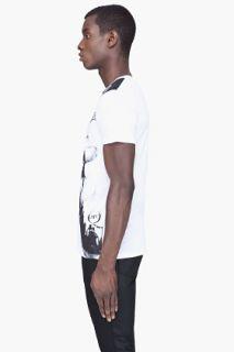 McQ Alexander McQueen White X ray Print T shirt for men