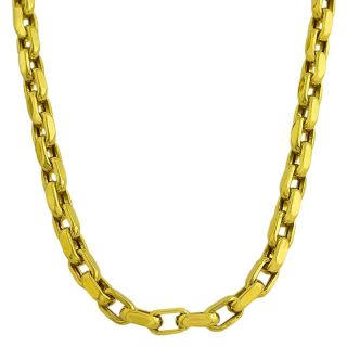 14k Yellow Gold Polished Chain Link Necklace