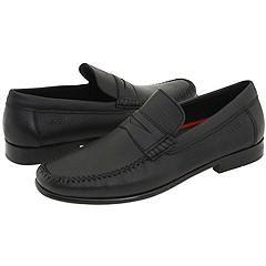 Ecco Montreux Penny Black Deerskin Loafers