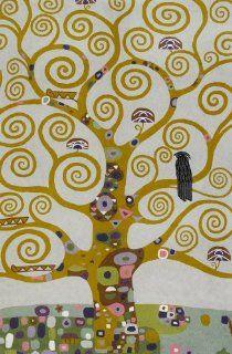 Handmade Rug or Wall Art   Klimt Tree of Life   c. 4 x 6
