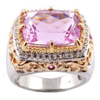 Michael Valitutti 14k Gold Kunzite, Sapphire and 1/4ct TDW Diamond