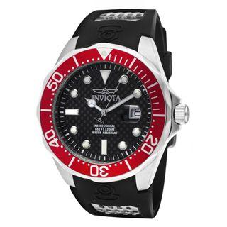 Invicta Mens Pro Diver/Grand Diver Black Polyurethane Watch