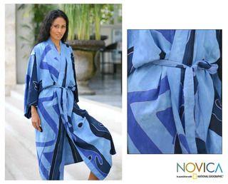 Womens Batik Tropical Sea Robe (Indonesia)