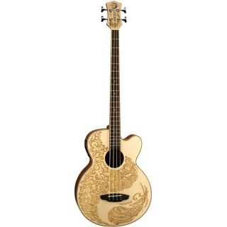 Luna Henna Paradise Acoustic/ Electric Bass Guitar