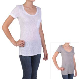 Journee Collection Juniors Short sleeve Scoop Neck Pocket Detail Tee
