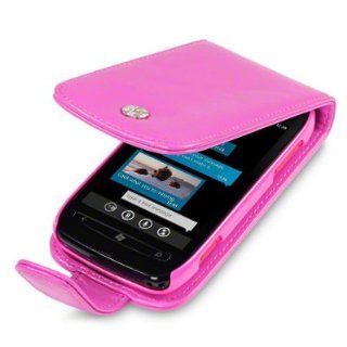 NOKIA LUMIA 710 HANDY LEDER TASCHE CASE HÜLLE IN PINK, QUBITS RETAIL