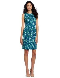 AK Anne Klein Womens Petal Abstract Print Dress Clothing