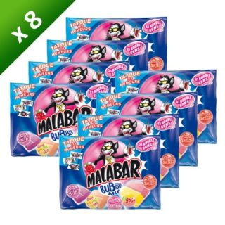 MALABAR Bubble Mix   Lot de 8 sachets de 214 grammes   Assortiment de