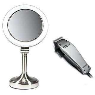 Andis 18365 8 piece Clipper Kit and Zadro 1x 10x SLV410 Vanity Mirror