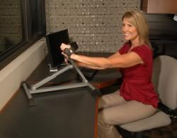 Stamina Adjustable height Table top Exercise Bike with Monitor