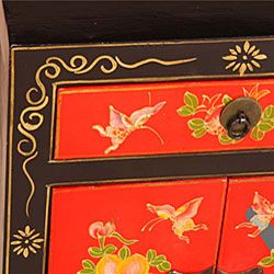Hand painted Butterflies and Flowers End Table