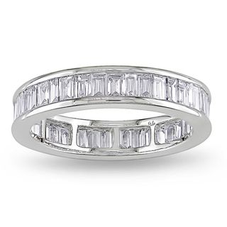 Miadora 18k White Gold 2ct TDW Diamond Eternity Ring (G H, VS1 VS2