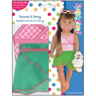 Springfield Collection Doll Pretty Swimsuit Outfit with Sarong Today