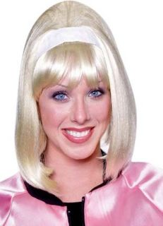 Blonde 50s Style Pink Lady Costume Wig Clothing