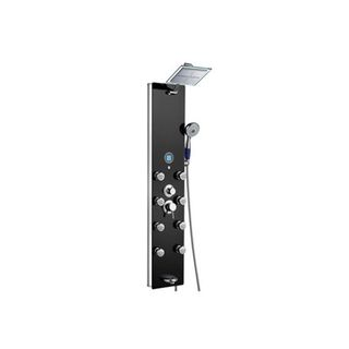 Blue Ocean 52 inch Aluminum Shower Panel Tower with Rainfall Shower