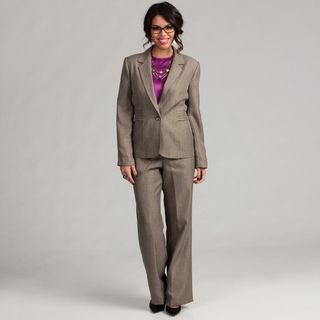 Danillo Womens Single Button Notch Collar Side Pleat Pant Suit