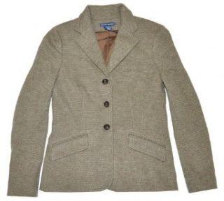 Ralph Lauren Women Plaid Wool Blazer Jacket (10, Green