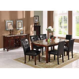 Radian Black Marble 7 piece Dining Set with Black Chairs Today $1,118