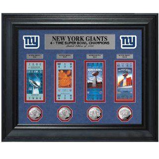 NFL New York Giants Super Bowl XLVI Champions Ticket Frame