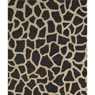 Hand tufted Seville Giraffe Black Wool Rug (8 x 10)