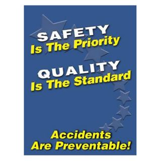 Accuform Signs PST104 Safety Poster, 24 x 18In, FLEX PLSTC, ENG