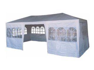Pavillon, Pavillion Zelt PE 3x6 weiß incl 8 Seitenteilen