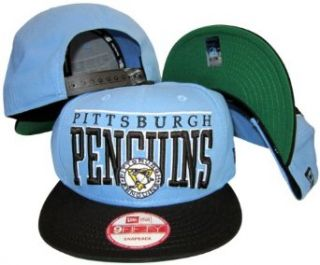Pittsburgh Penguins Sky Blue / Navy Two Tone Plastic