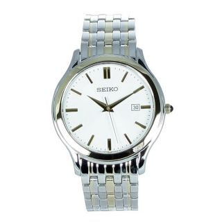 Seiko Mens Dress Stainless Steel Watch