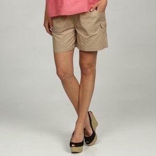 Oh Mamma Maternity Elastic Waistband Cargo Shorts