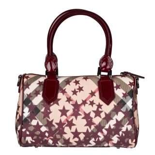 Burberry Nova Small Star Print Bowler Handbag