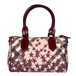 Burberry Nova Small Star Print Bowler Handbag