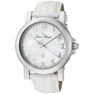 Lucien Piccard Mens Alpha White Genuine Leather Watch