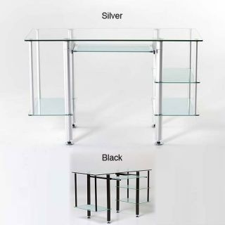 Silver Desks Buy Wood, Glass and Metal Home Office