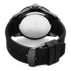 Magico Mens Invader Black Textured Silicone Watch