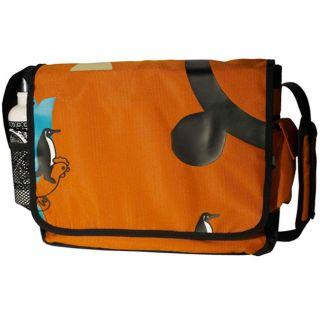 Penguin & Rooster Recycled PETE Orange Messenger Bag