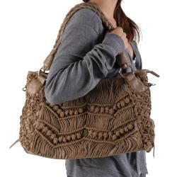 Journee Collection Womens Knotted Detail Double Handle Hobo Bag