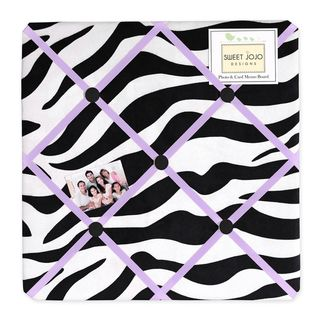Sweet JoJo Designs Purple Funky Zebra Bulletin Board