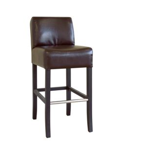 Marco Espresso Brown By cast Leather Barstool
