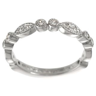 Tressa Rose Goldplated Sterling Silver Cubic Zirconia Eternity Ring