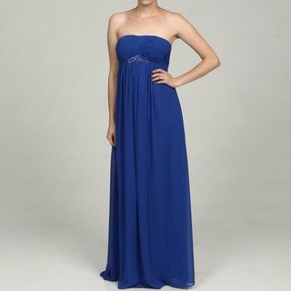 OC by Oleg Cassini Womens Beaded Grecian Dress