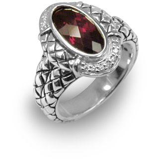 Scott Kay Sterling Silver Rhodolite Garnet Ring
