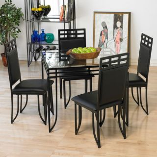 Black Square Tube Dinette Table