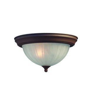 Woodbridge Lighting Basic 2 light Antique Bronze Flush Mount Today $