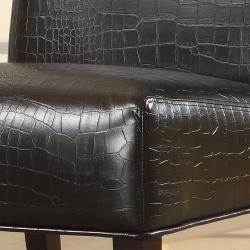 ETHAN HOME Decor Faux Alligator Leather Print Lounge Chair