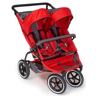 Phil and Teds Red E3 Twin Stroller
