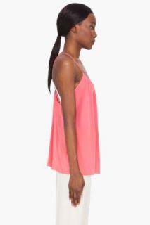 Chloe Pink Silk Runway Tank Top for women